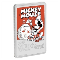 Niue - 2 NZD Disney Mickey Mouse Poster Revue 2017 - 1 Oz Silber