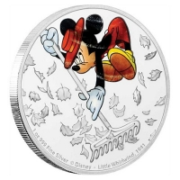 Niue - 2 NZD Disney Mickey Mouse Little Whirlwind 2017 - 1 Oz Silber