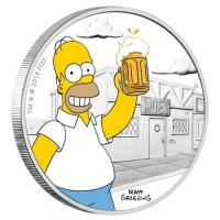 Tuvalu - 1 TVD The Simpsons Homer 2019 - 1 Oz Silber PP